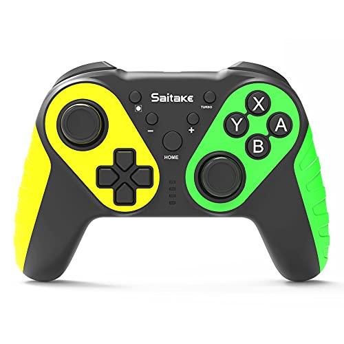 XUXN Controlador inalámbrico, Controlador Bluetooth para Nintendo Switch Pro, Joystick Remoto para Consola Nintend Switch, manija de Gamepad con NFC