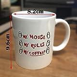 Colore Bianco Coltelli La Mia Casa Le Mie Regole Le Mie Tazze Da Caffè 350 Ml Regalo Di Natale In Ceramica Per Ragazze Tè Tazza Di Latte Tazze Spedizione Di Goccia