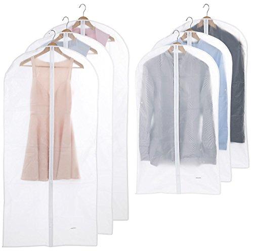 PEARL Kleiderhülle: 6er-Set Kleidersäcke in 2 Größen, 60 x 100 cm und 60 x 135 cm (Kleiderschutzhüllen)