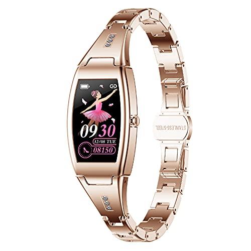 jpantech Smartwatch Donna, Orologio Fitness IP67 Impermeabile Smart Watch da Donna Notifiche Messaggi Contapassi Calorie Cardiofrequenzimetro da Polso Activity Tracker per Android iOS