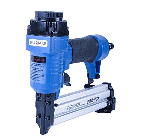 WELDINGER 2-in-1 Druckluft Klammergerät (Tackernadeln bis 25 mm Nägel bis 32 mm)