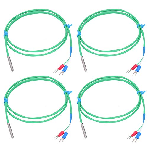 0‑200℃ K‑type Thermocouple Probe, Silicone Super Soft Temperature Measuring Line with Stainless Steel Probe for Petroleum, Water(1M)