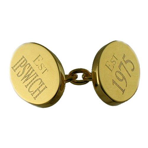 Select Gifts Gold-Kette Gravur Geburtstag Bremsscheibe vorne Manschettenknöpfe im Hinweisfenster