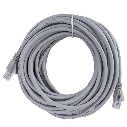 Semiter Cable de Red, Conveniente, Buen Rendimiento, práctico y Duradero Cable de Puente para computadora, para computadora portátil(20m)