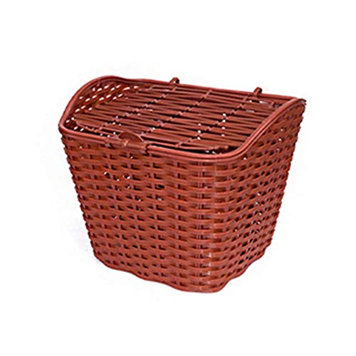 Learn More About No-branded YAGMGUS Bike Basket Rainproof Waterproof Bicycle Basket with Cover Front...