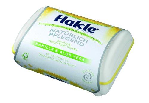 HAKLE feuchtes Toilettenpapier mit Aloe Vera & Kamille /45241 weiß Inh.42 Tücher