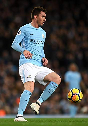AYMERIC LAPORTE MANCHESTER CITY VS WEST HAM 2018 FOOTBALL POSTER 10777 (A3-A4-A5)