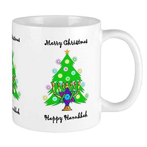 CafePress Hanukkah And Christmas Interfaith Mug Unique Coffee Mug, Coffee Cup