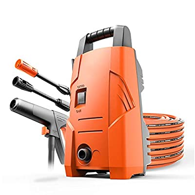 QXMEI Pressure Washers?waterproofing System 3-in-1 Nozzle Car Washing Machine 90bar 6.5L/min Flow - 1200W Home Pressure Washer,Orange-D from Qxmei