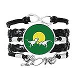 OFFbb-USA Lucha Carnívoro Sol Art Deco Regalo Moda Pulsera Amor Accesorio Trenzado Cuerda de Tejer Pulsera Regalo