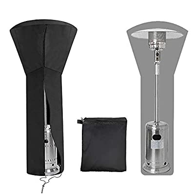 """SUPOW Patio Heater Covers Waterproof with Zipper, 420D Oxford Fabric Standup Outdoor Heater Cover for Outdoor Heaters, 89"""" H x 33"""" D x 19"""" B"""
