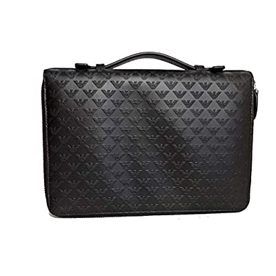 Emporio Armani men's bag handbag genuine leather black