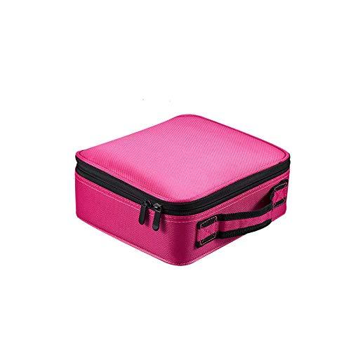 Cosmétique Sac Professionnel vanité Organisateur Femmes Voyage Cas Grande capacité valises pour maquillage25 * 21 * 10 cm-Rose_25 * 21 * 10 cm