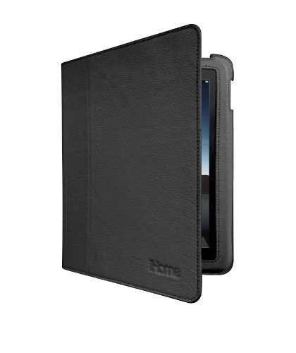 iHome Genuine Leather Fit Case for iPad 2 - Black (IH-IP1100B)