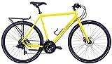 Windsor Tourist FB 700c Flat Bar Touring Road Bike 21 Speed Drive Train (Yellow, 54cm - fits Most 5'6' to 5'8')
