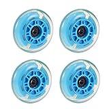 LIOOBO 4 Unids 72mm LED Ruedas Skate Ruedas Roller en línea para Reemplazo al Aire Libre (Color Aleatorio)