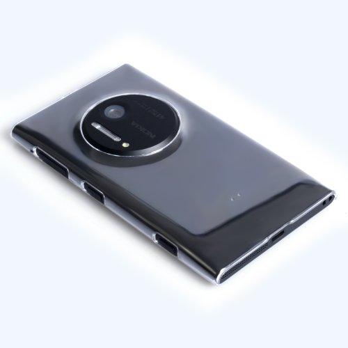 Yousave Accessories - Custodia per Nokia Lumia 1020 Cover Duro Chiaro Cristallo Trasparente
