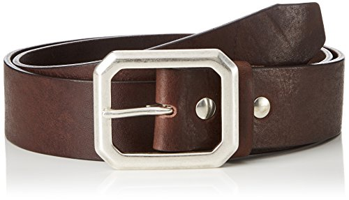 Schott NYC Herren Gürtel Belt Octo, Braun (Dark Brown 80), 95