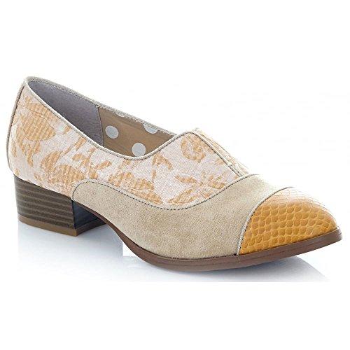 Ruby Shoo Women's Sand Brooke Low Heel Loafers UK 6 EU 39