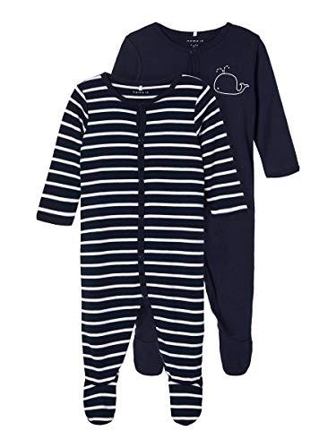 NAME IT Child Schlafanzug 2er-Pack Druckknopf 68Dark Sapphire