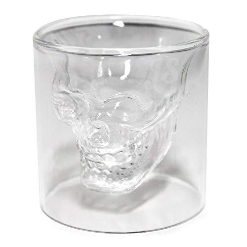 Preis am Stiel 1 vaso de chupito con diseño de calavera de...