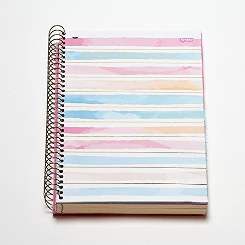 Caderno Espiral Capa Dura Universitário 10 Matérias Dreams 160 Folhas, Jandaia