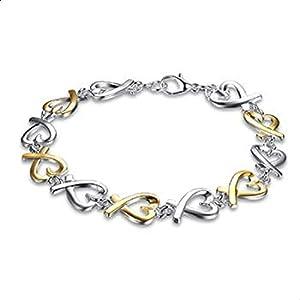Love Charm Sterling Silver Plated Bracelet