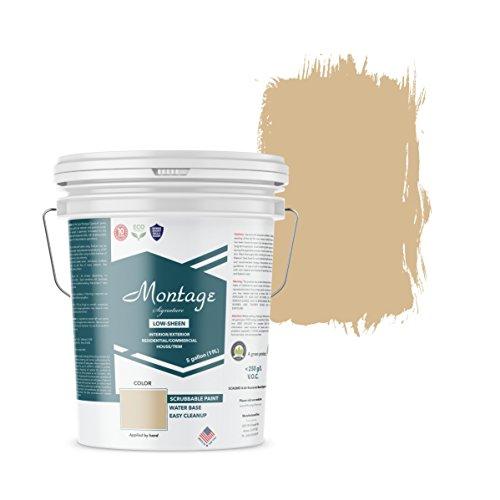 Montage Signature Interior/Exterior Eco-Friendly Paint, Wheat Ridge - Low Sheen, 5 Gallon