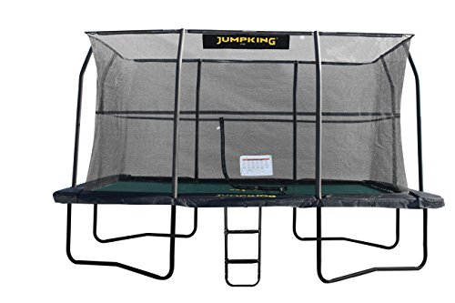JumpKing 17ft x 12ft Deluxe Rechthoekige trampoline met behuizing