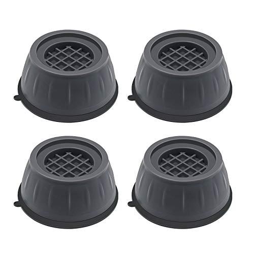 Piedini per Lavatrice Antivibrazione 4 Pezzi Supporto per Asciugatrice Antiscivolo Piedini Lavatrice Riduce Rumore Protegge Pavimento Base più Alta e Ampia Facile da Pulire e Fondo Asciutto Stabilità