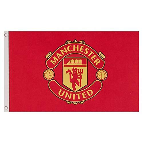 Manchester United Football Club Official Large Flag Big Crest Game Fan Banner