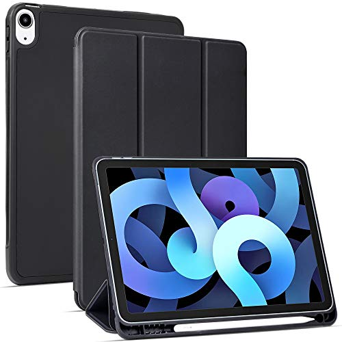 Migeec Hülle für iPad Air 4 10,9 Zoll 2020 Ultradünne Superleicht Schutzhülle, Schwarz
