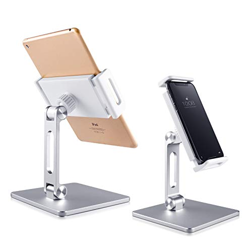 [Steady Support] tabled iPad Stand Holder Adjustable Aluminum Desktop Stand can Compatible iPad Mini pro Air ipone12 11 max Phone XS XR Devices