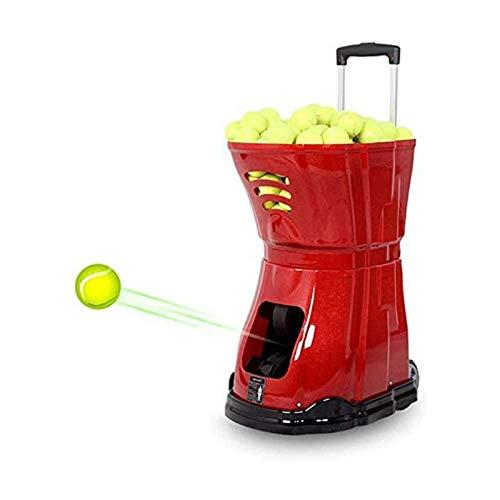 HYDDG Máquinas de Pelotas de Tenis Máquinas para lanzar Pelotas de Tenis Máquina para Servir Tenis Máquina de Lanzamiento de Tenis Ligera Enchufe/baterías 180 Pelotas