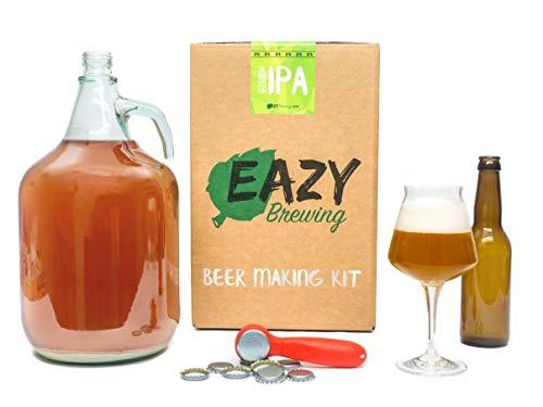 Eazy BrewingKit de elaboración de cerveza de 5 litros - Cerveza IPA (India Pale Ale) - Caja de regalo para preparar su propia cerveza artesanal – Instrucciones en Español