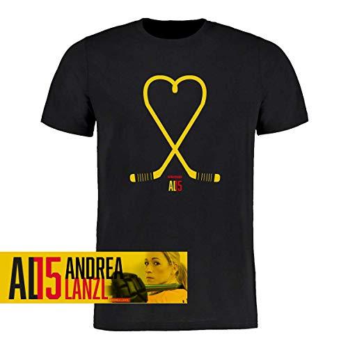 Scallywag® Eishockey T-Shirt Andrea Lanzl Heart I Größen S - 3XL I A BRAYCE® Collaboration (Eishockey für Frauen mit der Collection der Hockey Rekord Nationalspielerin AL15) (XXL)