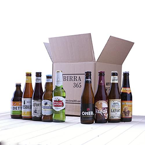 Caja degustación cerveza belga. Selección de 9 cervezas especiales y diferentes...