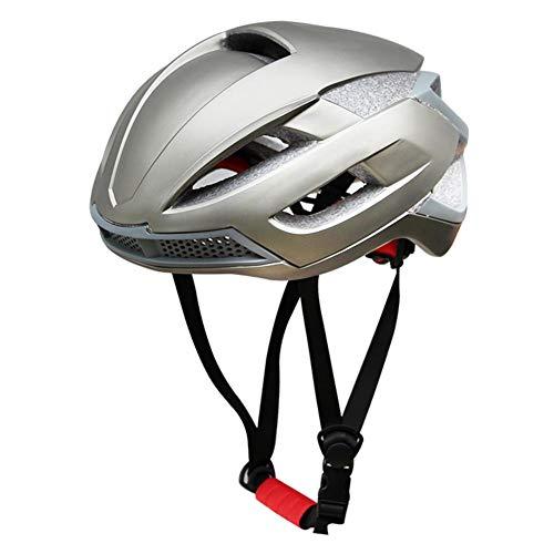VGEBY Fahrradhelm Fahrradhelm Einstellbar Atmungsaktiver Kopfschutz Fahrradzubehör(L-grau)