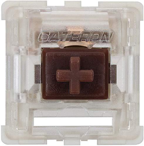 Gateron KS-9 RGB メカニカル MX タイプ キースイッチ - クリアトップ (65個、サイレントブラウン)
