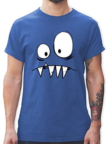 Karneval & Fasching - Monster Kostüm - 3XL - Royalblau - Funny Shirt Herren - L190 - Tshirt Herren und Männer T-Shirts