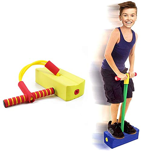Kids Indoor Toys, Children's Frog Jumping Pogo Bouncer Soft Non-Slip Pogo Stick Bungee Hopper Jumper voor Outdoor Fitness Oefening