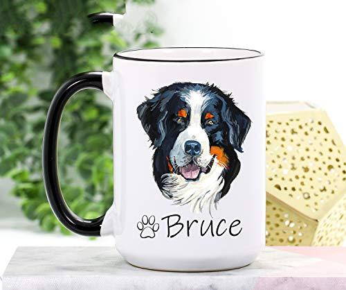Taza de cocina para perros de montaña Bernesa de Bernese Mountain Dog Regalos para perros de montaña de Bernese Regalos para perros para mujeres Taza de café personalizada para perro y mamá