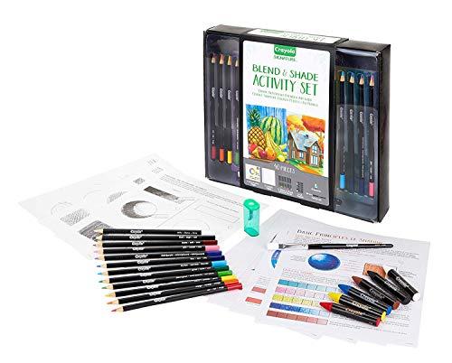 Crayola Blend & Shade Activity Set, Adult Coloring Art Set, 40Piece, Gift