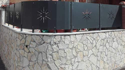 metallog Pannello in Ferro per Recinzione Incluso piantane Serie Riccio (H100 X L145 cm)
