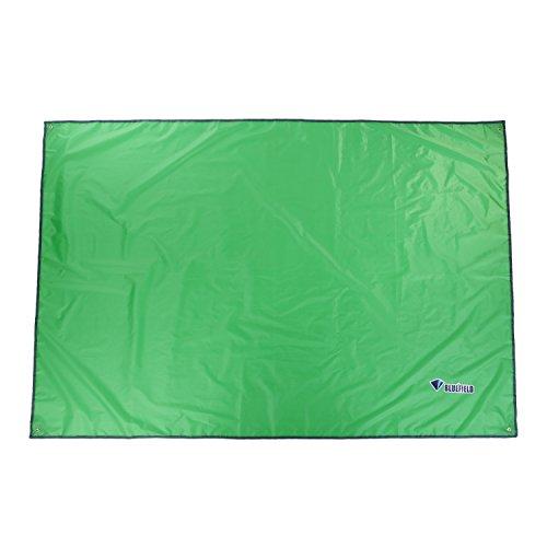 Outad Camping-Schutzdecke / Bodenplane für Zelt und Matratze, für Outdoor-Aktivitäten, winddicht, feuchtigkeitsfest, mit Sonnenschutz, grün
