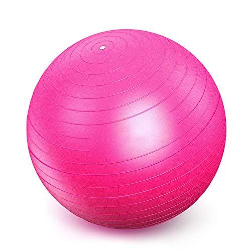 AIYKXY Anti-Burst Gymnastikball,Rückenübungen und Dehnübungen,Stabilitäts-Rosa,80cm