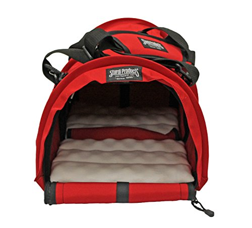 STURDI PRODUCTS StrudiBag Double Sided Divided Pet Carrier, Large, Red