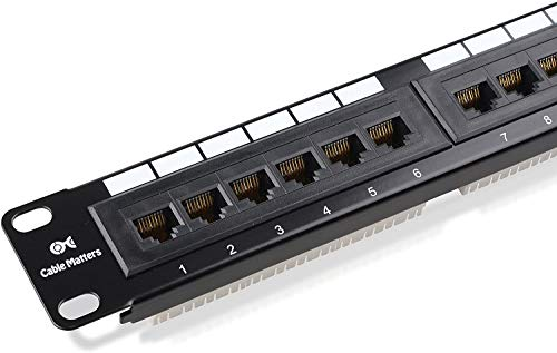 CAT6/CAT5e 24 Ports Patch Panel,Rackmount or Wall Mount 24 Port...