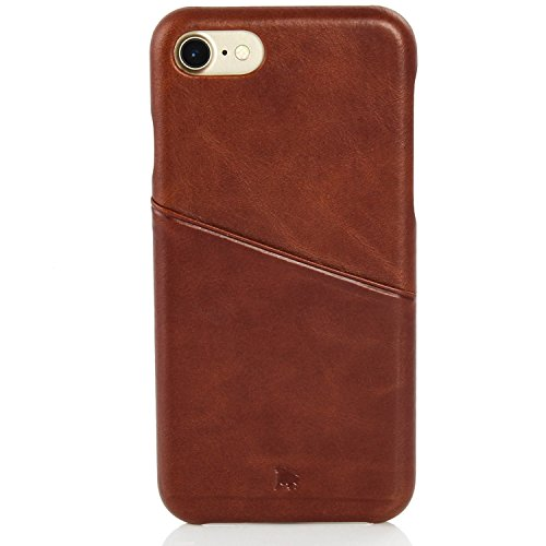 BULLAZO Menor Urban, hochwertige Handyhülle, Hülle, Backcover Leder mit Kartenfach, Kompatibel Apple iPhone SE 2020, 7 & 8 in braun