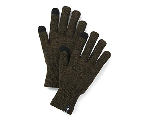 Smartwool Liner Glove Black/Military Olive Heather XS